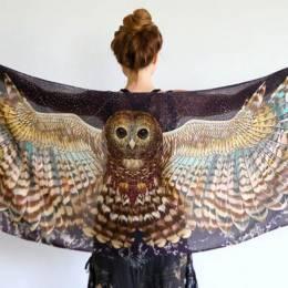 Roza Khamitova 神奇美丽的围巾艺术设计