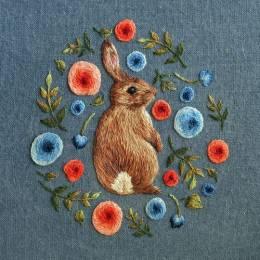 清新唯美的手工动物刺绣欣赏