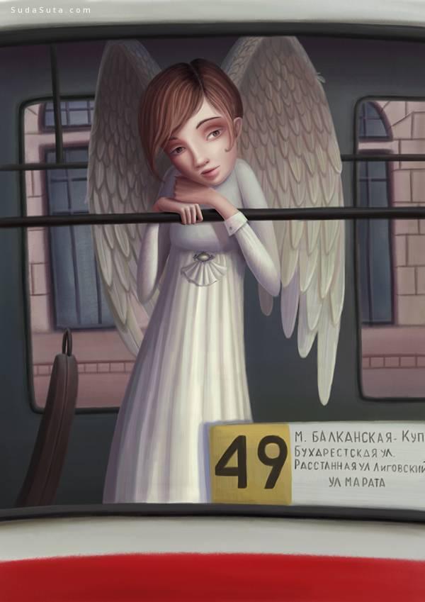 Varya Kolesnikova 儿童插画欣赏《muse2》 - 苏打苏塔设计量贩铺 – sudasuta.com – 每日分享创意灵感!