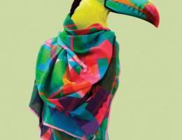 Natasha Coverdale 充满热带气息的围巾设计