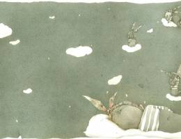 Little rabbit without a ticket 儿童插画欣赏