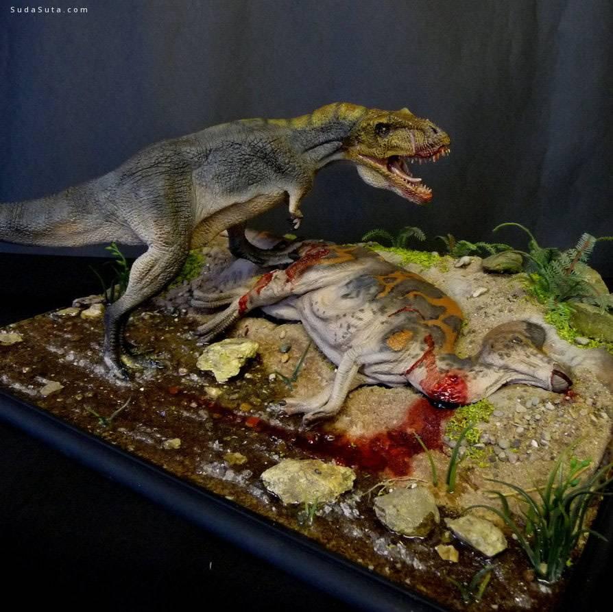 Martin Garratt 邪恶而真实的恐龙雕塑