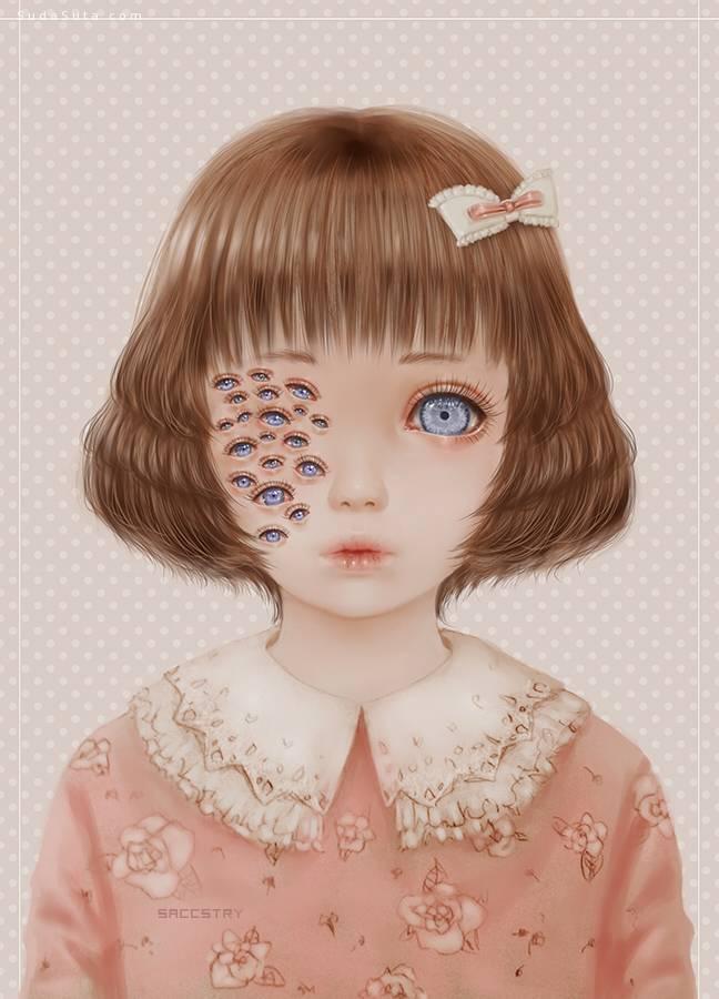 Saccstry 恐怖诡异的少女漫画欣赏