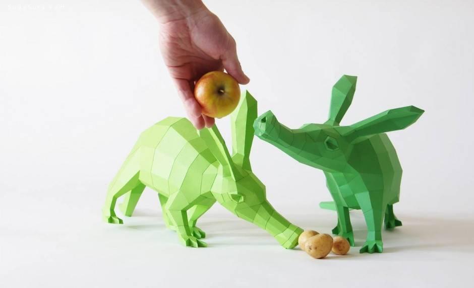 Paperwolf 动物造型立体纸艺