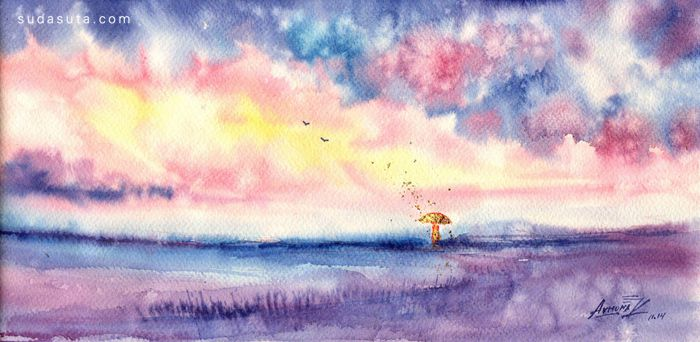 Anna Armona 抽象水彩艺术欣赏