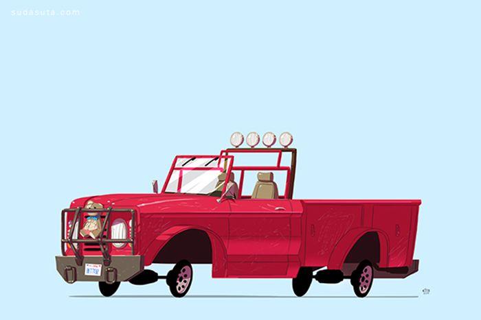 Ido Yehimovitz 简约可爱的未来卡通汽车