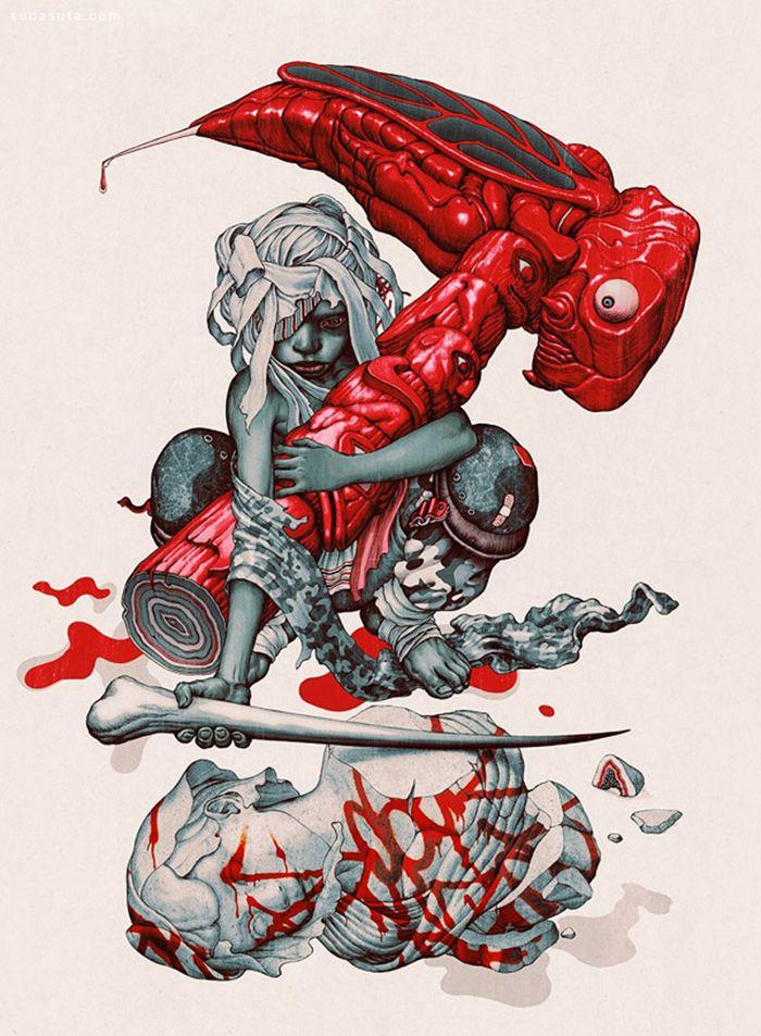 James Jean 神经质的手绘插画艺术