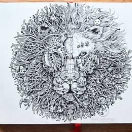 Kerby Rosanes 繁复的手绘插画欣赏