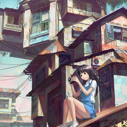 Chong FeiGiap 城市与女生 手绘漫画欣赏