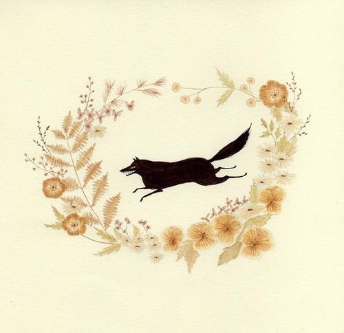 Julianna Swaney 黑色童话 手绘水彩插画欣赏