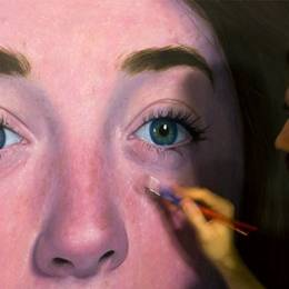 David Slone 巨幅手绘抽象人像插画欣赏