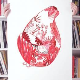 Gosia Herba 装饰插画欣赏《蓝色红色黄色》