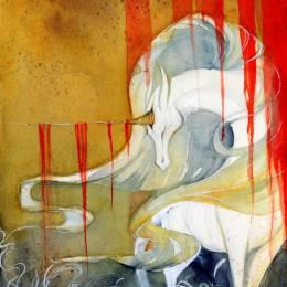 RubisFirenos 传说中的白狐 中国风手绘插画欣赏