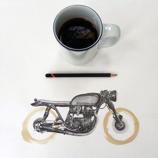Carter Asmann 咖啡渍与手绘
