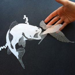 Maude White 雕刻艺术 创意纸张雕刻欣赏