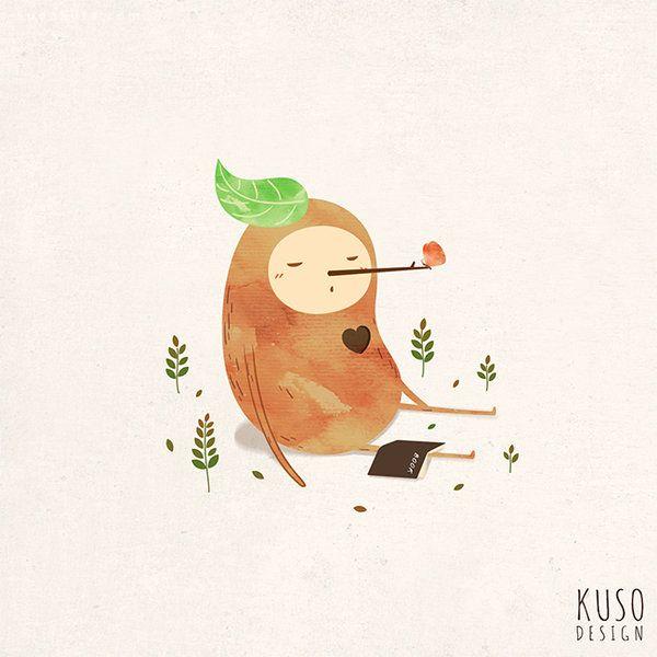 kusodesign 诙谐幽默的可爱小插画