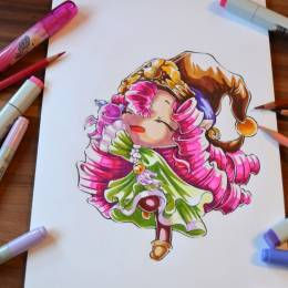Lighane 可爱的手绘少女漫画