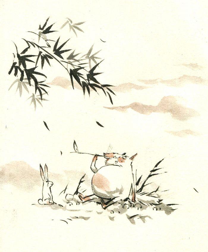 早稻.野兽 原创手绘中国风漫画欣赏