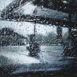 Karen Woods 宛如照片般真实的雨滴插画
