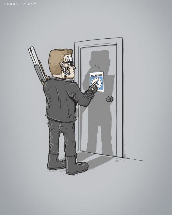Alex Solis 可爱幽默的生活插画