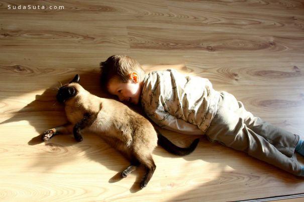 家有爱宠的熊孩子们
