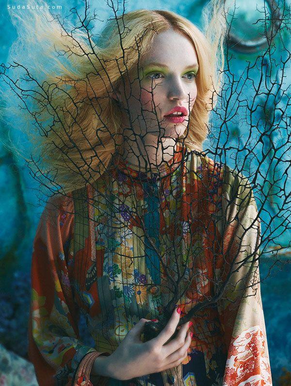 Sandrine Dulermo 和Michael Labica 时尚摄影欣赏《Tutte in fiore》