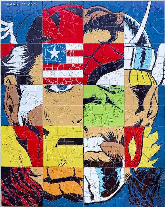 Jason Dussault 玻璃马赛克的超级英雄们