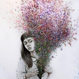 Kate Louise Powell 超现实主义铅笔画插画欣赏