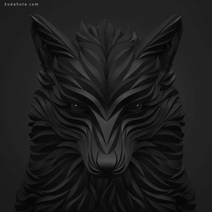 Maxim Shkret 动物肖像插画欣赏