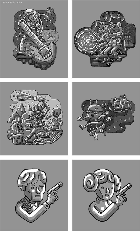 Raul Aguiar 疯狂可爱的卡通插画欣赏