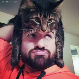 猫咪帽子很有爱 二货欢乐多啊