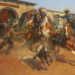 Andy Thomas 印第安与马 绘画艺术欣赏