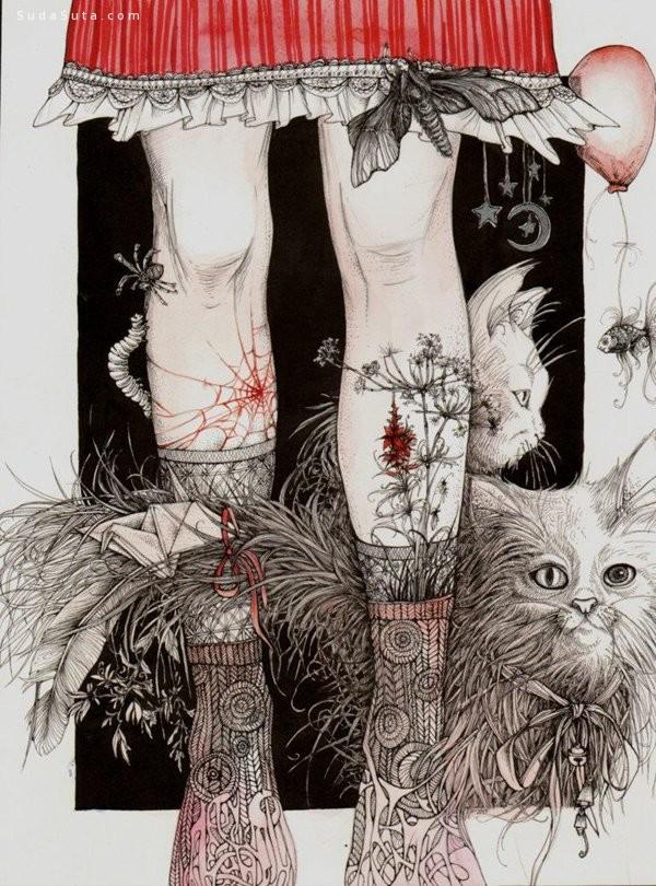 Anna Oparina 细腻的插画作品欣赏