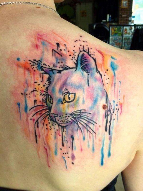 超级可爱的猫咪纹身
