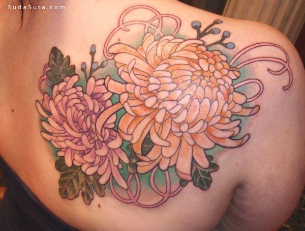 菊花啊菊花 纹身设计欣赏