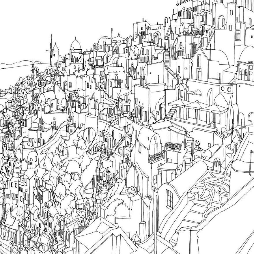 涂色游戏 不可思议的城市