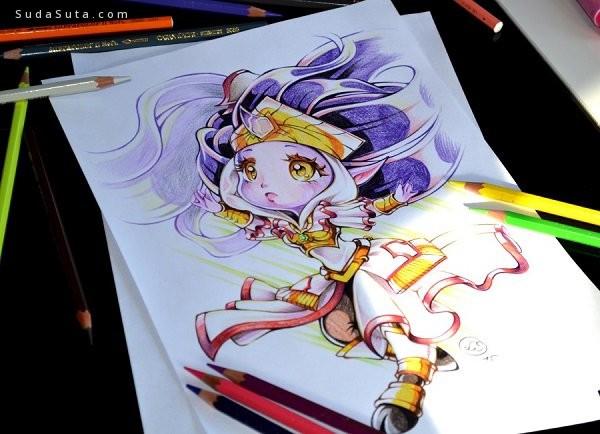 Lighane 可爱的包子脸 手绘漫画欣赏