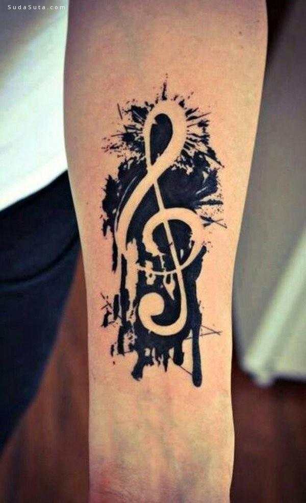 音乐元素纹身图案欣赏
