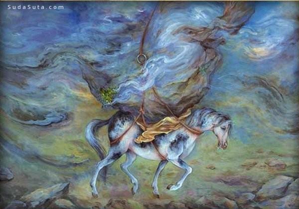 Ostad Mahmoud Farshchian 神话主题的幻想插画欣赏