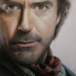 A-D-I–N-U-G-R-O-H-O 超现实主义铅笔明星肖像画