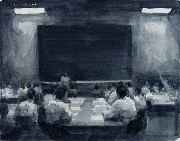 白衣人儿 Peter Martensen 绘画艺术欣赏