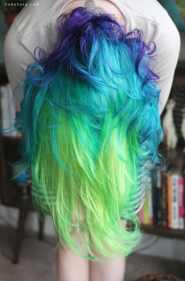 彩虹头发 不一样的造型设计