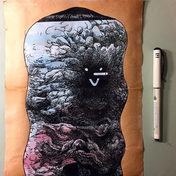 Raymond Lemstra 奇怪的面孔 个性手绘欣赏