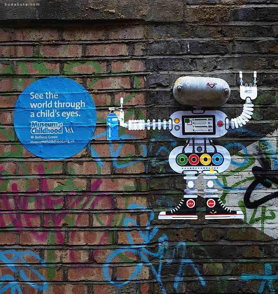 为孩子们而画的街头艺术