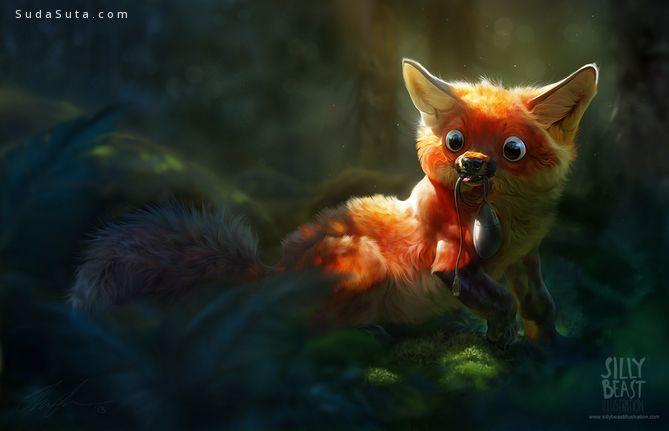 Therese Larsson 可爱幽默的动物插画欣赏