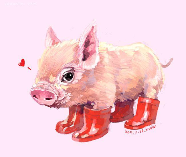 Xue Wawa 超级有爱的动物插画欣赏