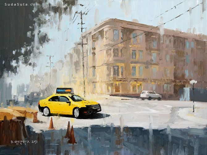 David Cheifetz 城市油画作品欣赏