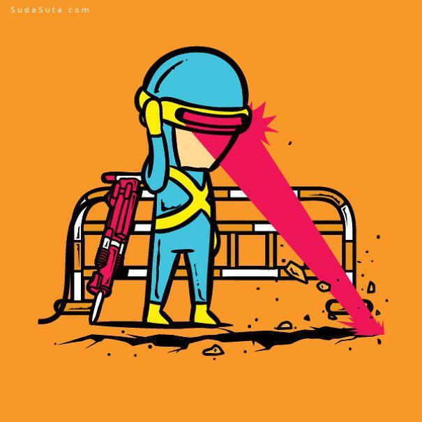 Flying Mouse 超级英雄T恤图案设计欣赏