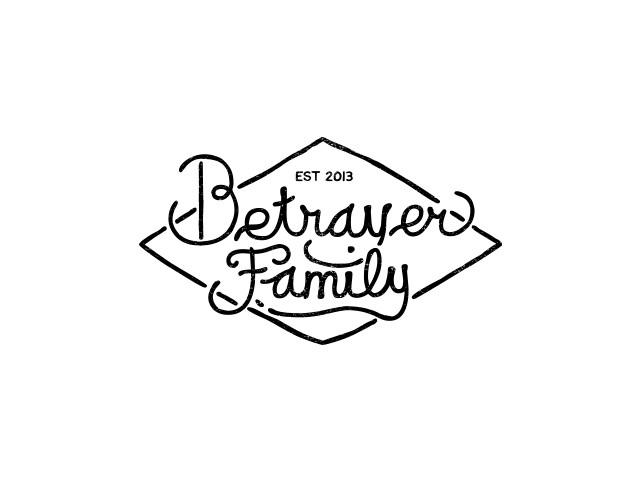 Betrayer Family 手写花体字设计欣赏