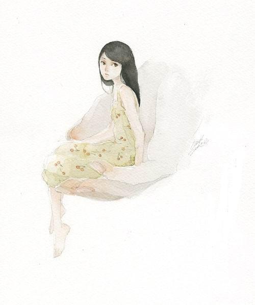 Elsie 桃 清新手绘水彩插画欣赏